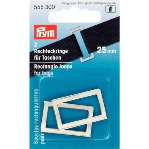 Rechteckringe für Taschen 25 mm silberfarbig im Makerist Materialshop