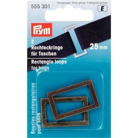 Rechteckringe für Taschen 25 mm altmessing im Makerist Materialshop