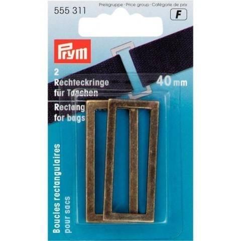 Rechteckringe für Taschen 40 mm altmessing im Makerist Materialshop