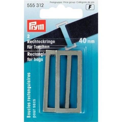 Rechteckringe für Taschen 40 mm altsilber im Makerist Materialshop