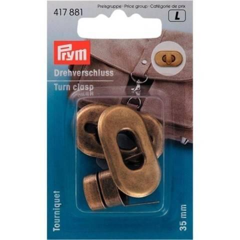 Drehverschluss für Taschen altmessing im Makerist Materialshop