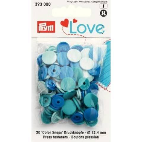 Prym Love Druckknopf Color KST 12,4 mm blau im Makerist Materialshop