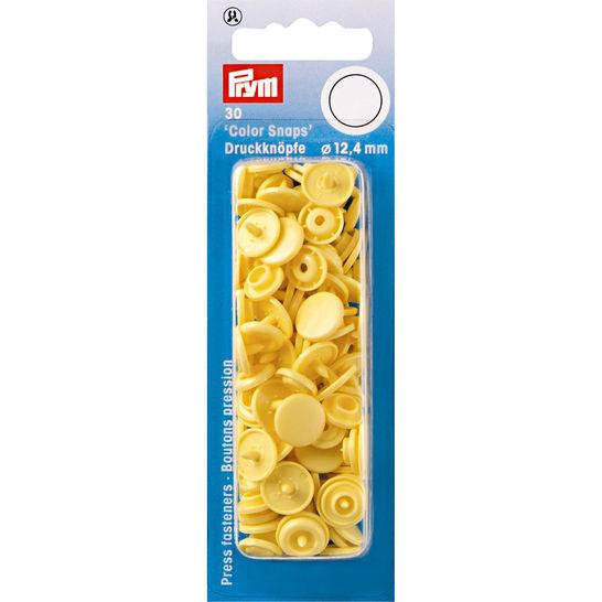 NF Druckknöpfe Color Snaps rund 12,4 mm banane 30 Stück im Makerist Materialshop - Bild 1
