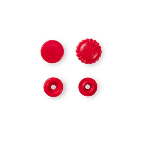 NF Druckknöpfe Color Snaps Blume 13,6 mm rot 21 Stück im Makerist Materialshop