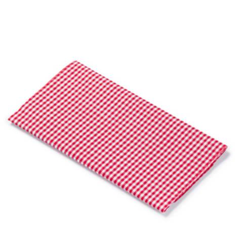 Flickstoff CO (bügeln) 12 x 45 cm rot/weiß kariert im Makerist Materialshop