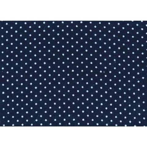 Flickstoff CO (bügeln) 12 x 45 cm blau/weiß gepunktet im Makerist Materialshop