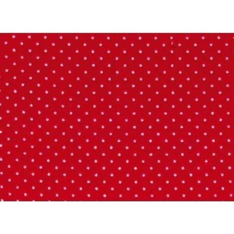 Flickstoff CO (bügeln) 12 x 45 cm rot/weiß gepunktet im Makerist Materialshop