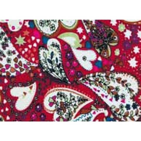 Flickstoff CO (bügeln) 12 x 45 cm rot/bunt Herz im Makerist Materialshop