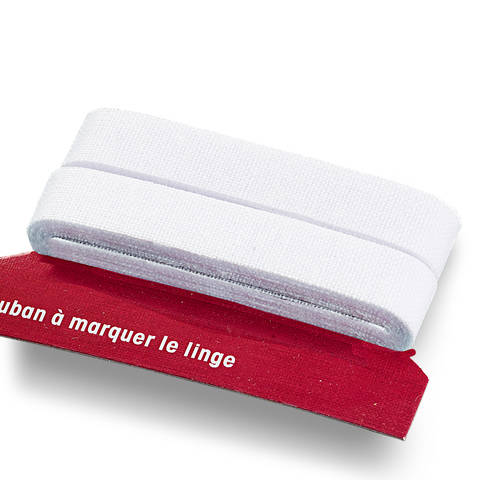Wäschemarkierband CO aufbügelbar 11 mm weiß im Makerist Materialshop