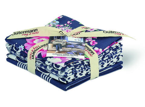 Fat Quarter Bundles von Gütermann creativ: Long Island - col.3 grau/weiß im Makerist Materialshop