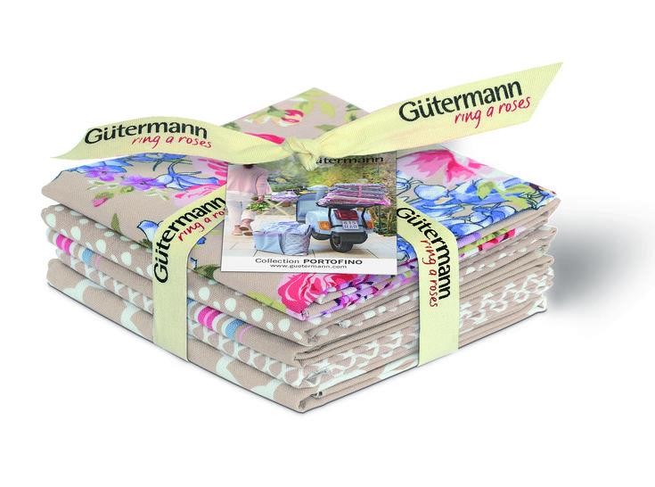 Fat Quarter Bundles von Gütermann creativ: Portofino - col.3 beige im Makerist Materialshop - Bild 1