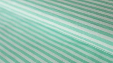 Mint-weiß bedruckter Baumwollstoff: Stripes - 150 cm im Makerist Materialshop