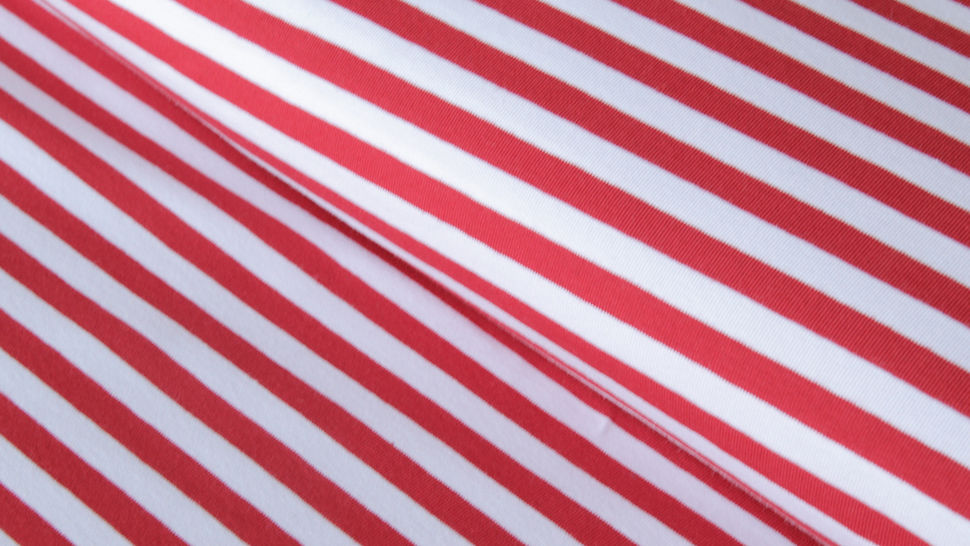 Rot-weiß gestreifter Jersey: Stripes dick - 165 cm  im Makerist Materialshop - Bild 1