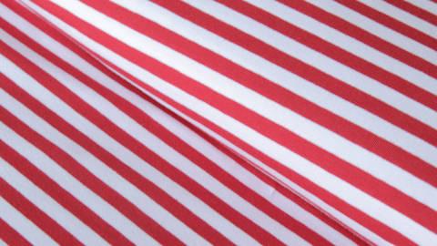 Rot-weiß gestreifter Jersey: Stripes dick - 165 cm  im Makerist Materialshop