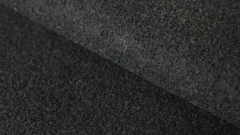 Schwarzer Uni Walkstoff: Boiled Wool - 145 cm im Makerist Materialshop - Bild 1