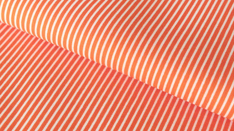 Orange-weißer Baumwollstoff: Stripes - 150 cm im Makerist Materialshop