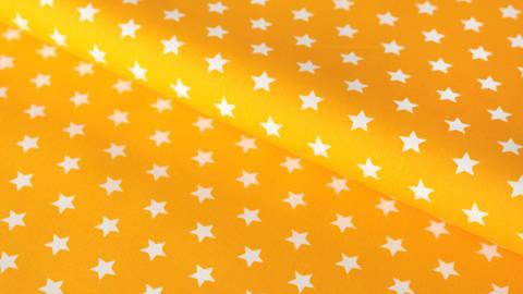 Gelb-weißer Baumwollstoff: Stars - 150 cm im Makerist Materialshop