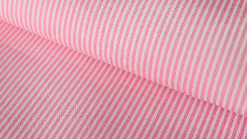 Rosa-weiß bedruckter Baumwollstoff: Stripes - 150 cm im Makerist Materialshop - Bild 1