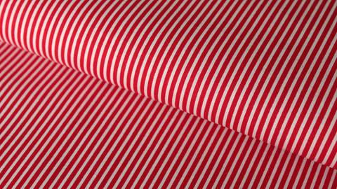 Tissu en coton rouge et blanc à rayures - 150 cm  dans la mercerie Makerist
