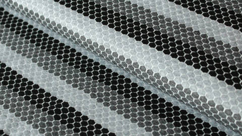 Grau gestreifter Jersey: Sportswear - 160 cm im Makerist Materialshop