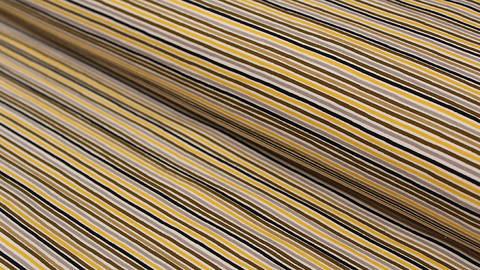 Jerseystoff gelb-braun: Avalana feine Streifen - 162 cm im Makerist Materialshop