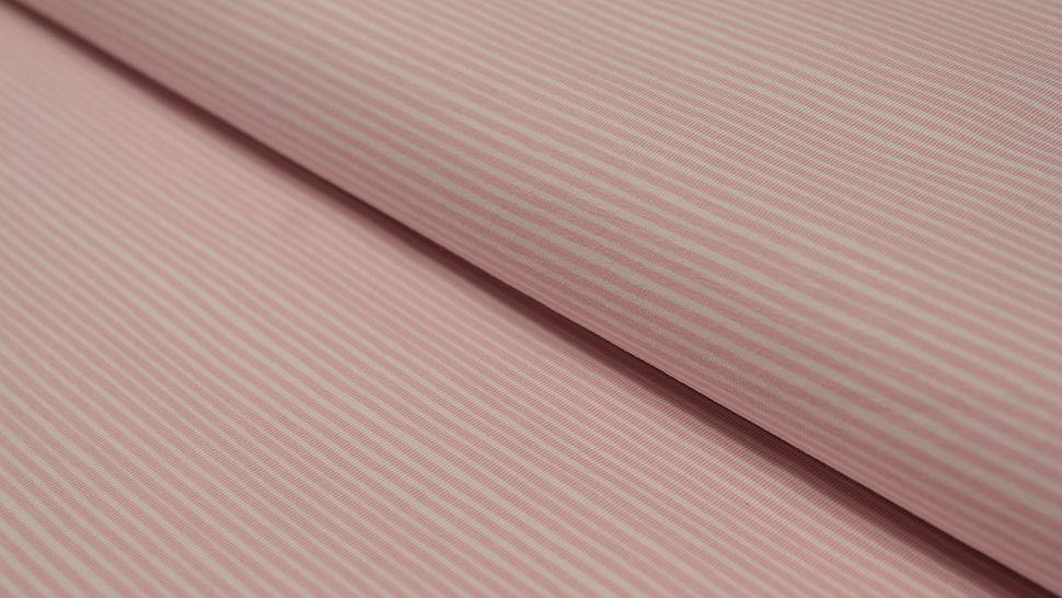 Jersey rayé Avalana rose et blanc - 162 cm dans la mercerie Makerist - Image 1