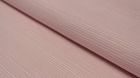 Jerseystoff rosa-weiß: Avalana feine Streifen - 162 cm im Makerist Materialshop
