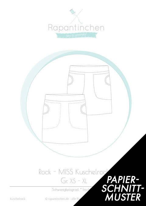 Gedrucktes Schnittmuster für: MISS Kuschelrock im Makerist Materialshop