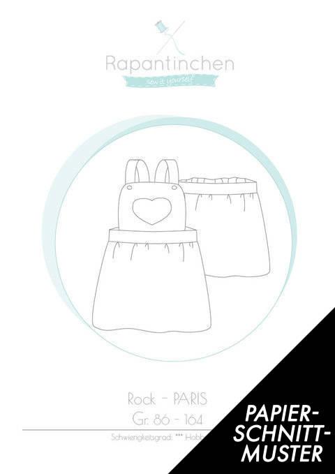 Gedrucktes Schnittmuster für: Latzrock PARIS im Makerist Materialshop