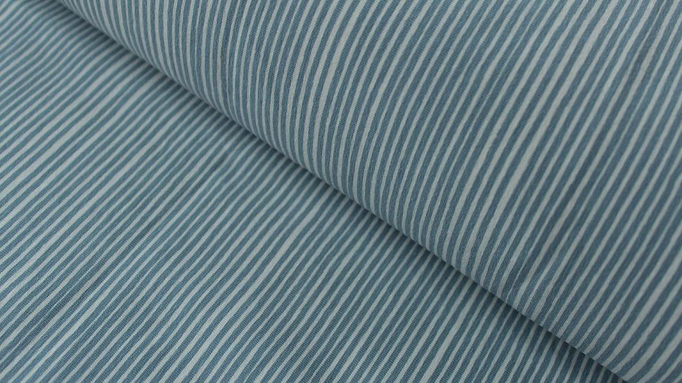 Jerseystoff hellblau-weiß: Avalana Streifen - 160 cm im Makerist Materialshop - Bild 1