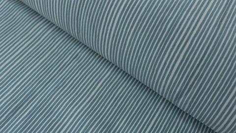 Jerseystoff hellblau-weiß: Avalana Streifen - 160 cm im Makerist Materialshop
