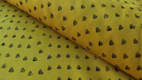 Ockerfarbener Radiance Viskose: Herzen - 140 cm im Makerist Materialshop