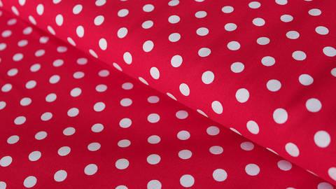Baumwollstoff Maxi Polka Dot signalrot: Judith - 148 cm im Makerist Materialshop