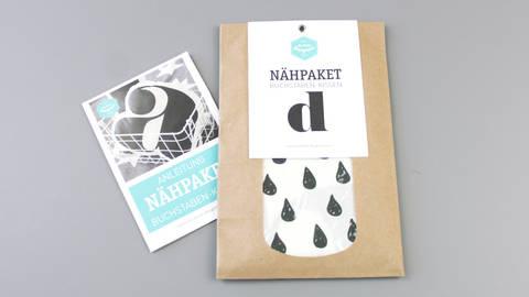 Dekokissen: Buchstabe mit Tropfen-Muster - d im Makerist Materialshop