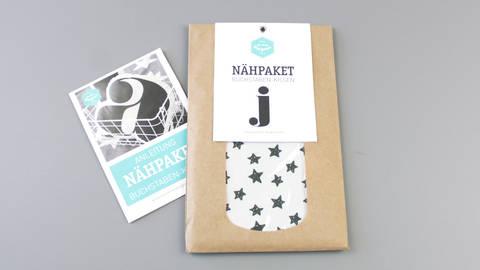 Dekokissen: Buchstabe mit Sternen-Muster - j im Makerist Materialshop