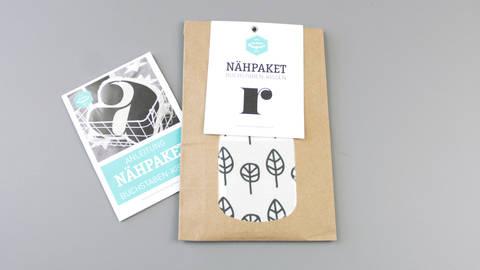 Dekokissen: Buchstabe mit Blätter-Muster - r im Makerist Materialshop
