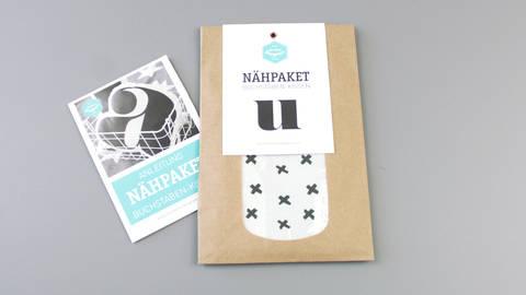 Dekokissen: Buchstabe mit X-Muster - u im Makerist Materialshop