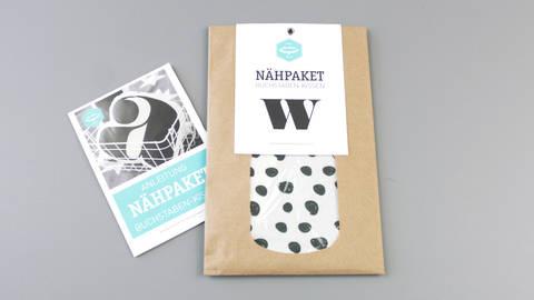 Dekokissen: Buchstabe mit Kringel-Muster - w im Makerist Materialshop