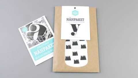 Dekokissen: Buchstabe mit Kronen-Muster - y im Makerist Materialshop