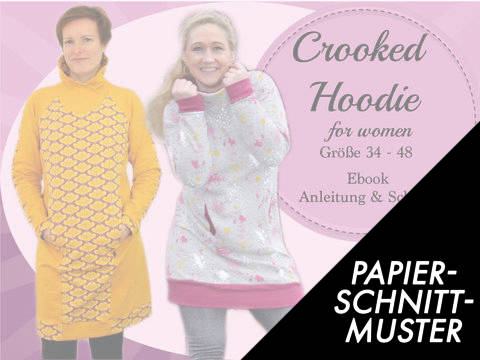 Gedrucktes Schnittmuster für: Crooked Hoodie for women im Makerist Materialshop