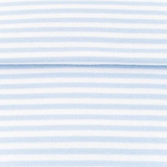 Ringelbündchen hellblau-weiß im Makerist Materialshop - Bild 1