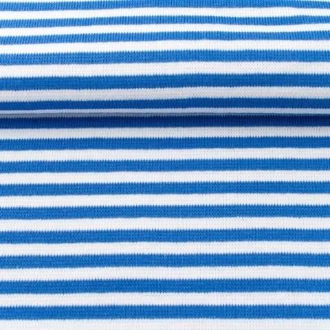 Ringelbündchen blau-weiß im Makerist Materialshop