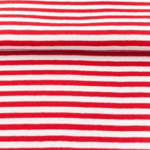 Ringelbündchen rot-weiß im Makerist Materialshop