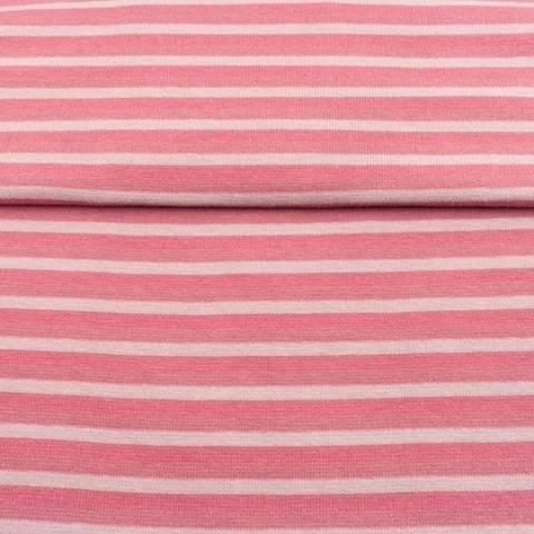Altrosafarbenes Bündchen: Streifen - 70 cm im Makerist Materialshop
