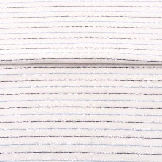 Weiß-Navy-Hellblaues Bündchen: Streifen - 70 cm im Makerist Materialshop - Bild 1