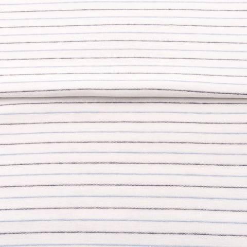 Weiß-Navy-Hellblaues Bündchen: Streifen - 70 cm im Makerist Materialshop