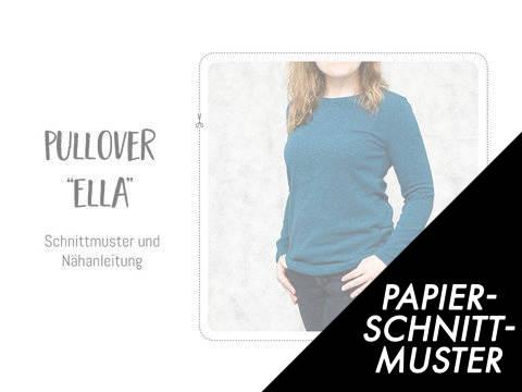 """Gedrucktes Schnittmuster für: Pullover """"Ella"""" im Makerist Materialshop"""