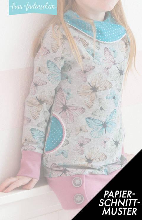 Gedrucktes Schnittmuster für: Sweatpullover und -kleid Lottchen im Makerist Materialshop
