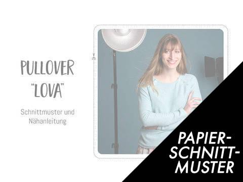 """Gedrucktes Schnittmuster für: Pullover """"Lova"""" im Makerist Materialshop"""
