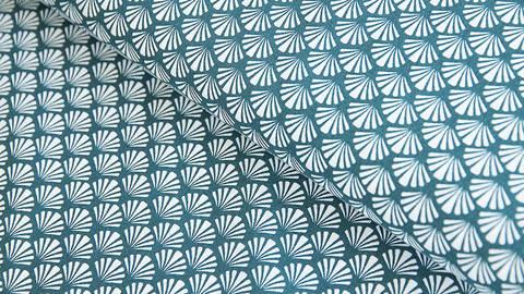 Baumwollstoff blau: Muscheln - 140 cm im Makerist Materialshop